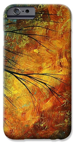 Rust iPhone Cases - Abstract Landscape Art PASSING BEAUTY 5 of 5 iPhone Case by Megan Duncanson