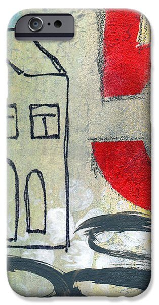 Abstract Landscape iPhone Case by Linda Woods