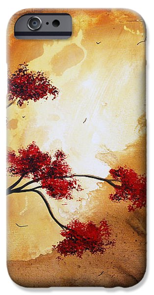 Abstract Landscape Painting EMPTY NEST 12 by MADART iPhone Case by Megan Duncanson