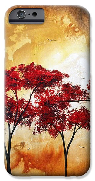 Abstract Landscape Painting EMPTY NEST 2 by MADART iPhone Case by Megan Duncanson