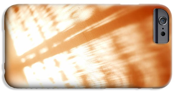 Total Abstract iPhone Cases - Abstract light rays iPhone Case by Tony Cordoza