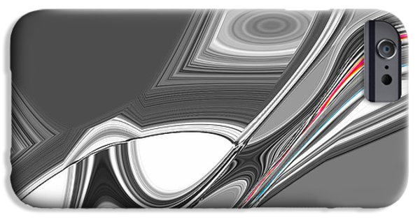 Modern Abstract iPhone Cases - Abstract Nixo #09992 iPhone Case by Nixolas Nixo