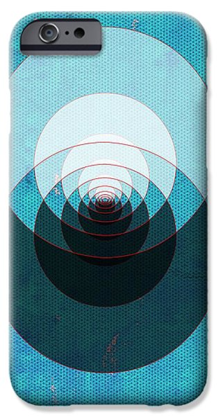 Blue Abstracts iPhone Cases - Abstract No 83 - The way home iPhone Case by Radu Gavrila