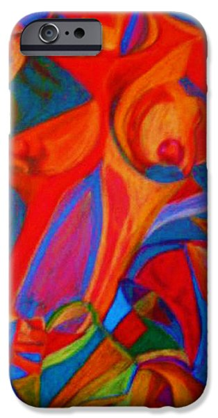 Organic Pastels iPhone Cases - Abstract Nude iPhone Case by Dorneisha Batson