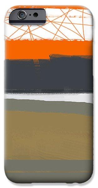 Interior Design iPhone Cases - Abstract Orange 1 iPhone Case by Naxart Studio