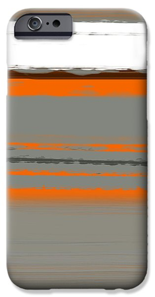 Abstract Lines iPhone Cases - Abstract Orange 2 iPhone Case by Naxart Studio