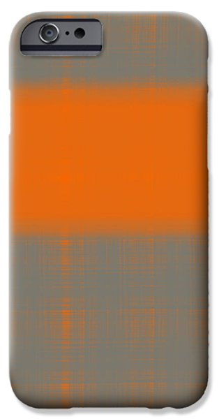 Design Paintings iPhone Cases - Abstract Orange 3 iPhone Case by Naxart Studio