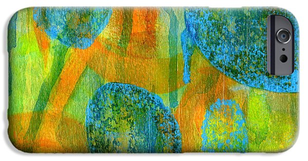 Contemplative Paintings iPhone Cases - Abstract Painting No. 1 iPhone Case by David Gordon