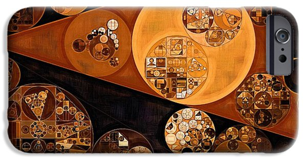 Abstract Picture iPhone Cases - Abstract painting - Saddle brown iPhone Case by Vitaliy Gladkiy