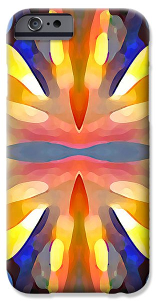 Abstract Paradise iPhone Case by Amy Vangsgard