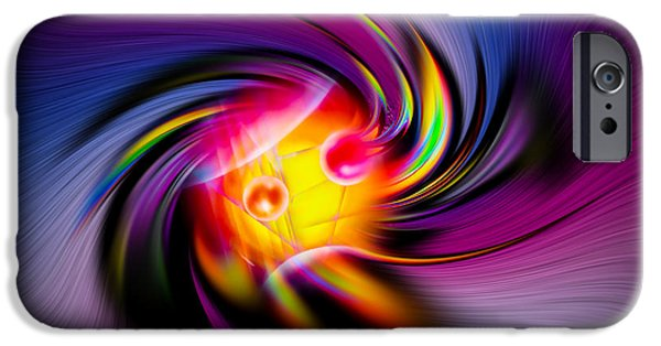 Colorful Abstract iPhone Cases - Abstract perfection  9 iPhone Case by Walter Zettl