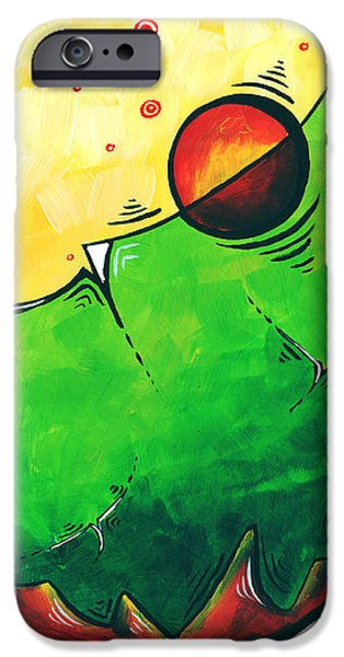 Abstract Pop Art Original Painting iPhone Case by Megan Duncanson