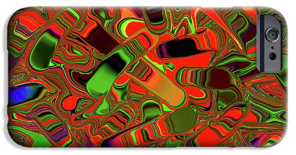 Slider Photographs iPhone Cases - Abstract Rainbow Slider Explosion iPhone Case by Andee Design