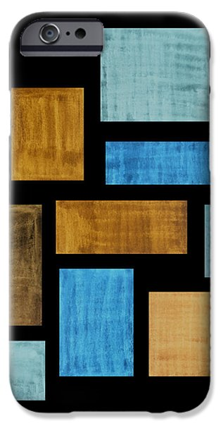 Abstract Rectangles iPhone Case by Frank Tschakert