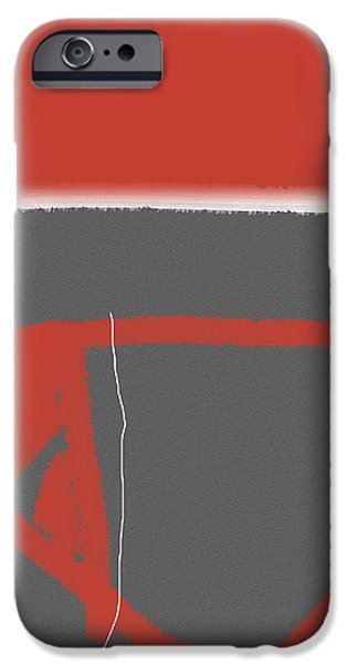 Abstract Red iPhone Case by Naxart Studio
