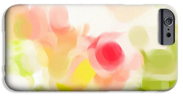 Abstract Digital Photographs iPhone Cases - Abstract roses iPhone Case by Tom Gowanlock