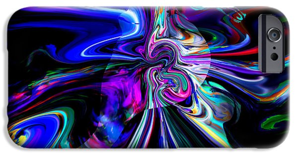Figure iPhone Cases - Abstract Seahorse Electric iPhone Case by Stephen  Killeen