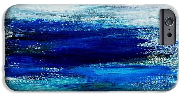 Abstract Seascape iPhone Cases - Abstract Seascape 4 iPhone Case by Dimitra Papageorgiou