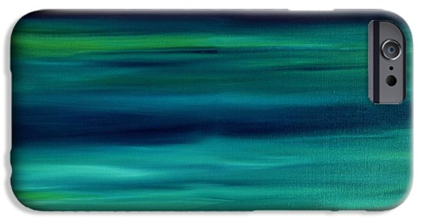 Abstract Seascape iPhone Cases - Abstract Seascape 6 iPhone Case by Dimitra Papageorgiou