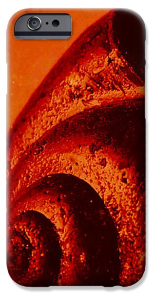 Red Abstract iPhone Cases - Abstract shell iPhone Case by Angela Doelling AD DESIGN Photo and PhotoArt
