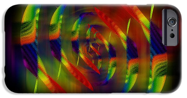 Stripes iPhone Cases - Abstract Symmetry Digital Artwork iPhone Case by Georgeta Blanaru