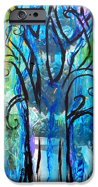 Tree Art Print iPhone Cases - Abstract Tree In Spring iPhone Case by Genevieve Esson