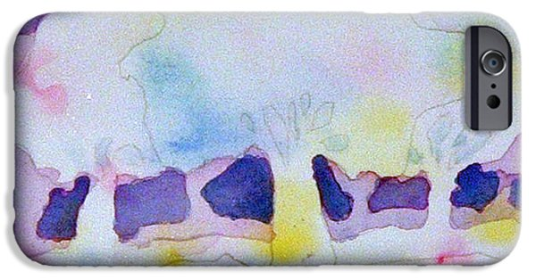 Abstract Expressionism iPhone Cases - Abstract Trees iPhone Case by Paul Thompson