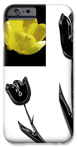 Abstract Digital Photographs iPhone Cases - Abstract Tulips iPhone Case by Tina M Wenger