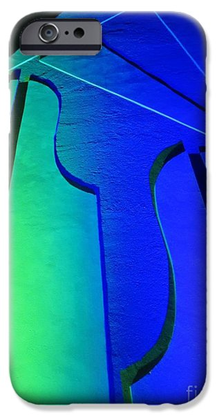 Blue Abstracts Reliefs iPhone Cases - Abstract Two iPhone Case by John Malone