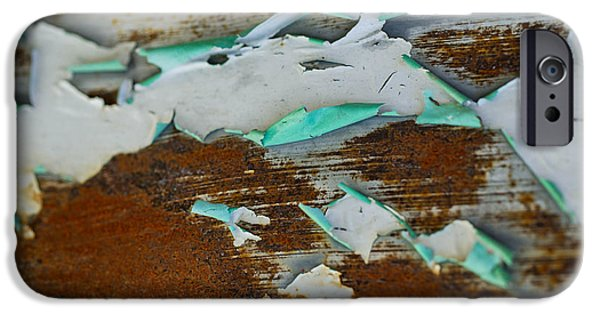 Rust iPhone Cases - Abstract V iPhone Case by Misty Tienken