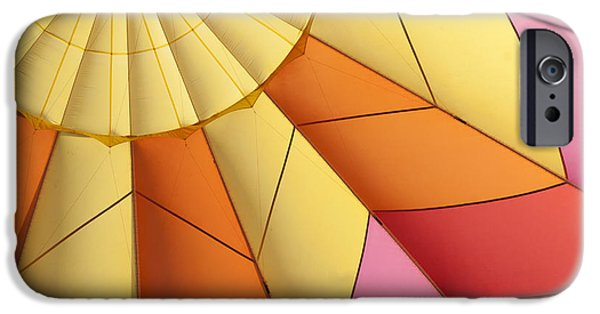 Hot Air Balloon iPhone Cases - Abstract View of Hot Air Balloon iPhone Case by Juli Scalzi
