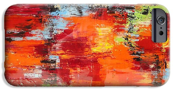 Abstract Seascape iPhone Cases - Abstract Waters iPhone Case by Elizabeth Langreiter
