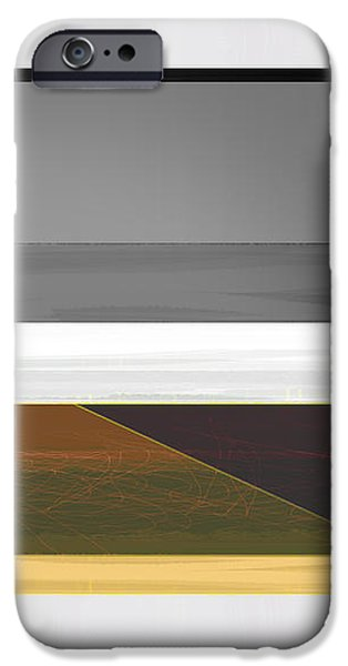 Abstract Yellow and Grey  iPhone Case by Naxart Studio