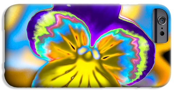 Abstract Digital Photographs iPhone Cases - Abstract Yellow Petunia Flowers iPhone Case by Julie Wooden