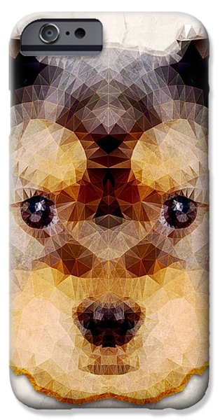 Cute Puppy iPhone Cases - Abstract Yorkie iPhone Case by Ancello