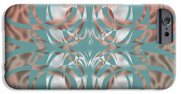 Abstract Digital Mixed Media iPhone Cases - Abstract510 iPhone Case by Evelyn Patrick
