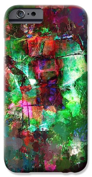 Abstractions iPhone Cases - Abstract71 iPhone Case by Ronaldo Weigand