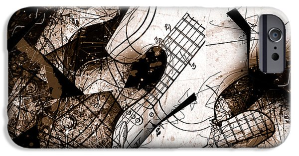 Fender Strat iPhone Cases - Abstracta 23 Strat No. 6 iPhone Case by Gary Bodnar
