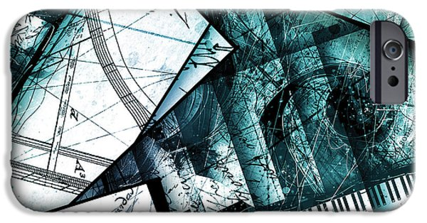 Piano iPhone Cases - Abstracta 28 Cadenza II iPhone Case by Gary Bodnar