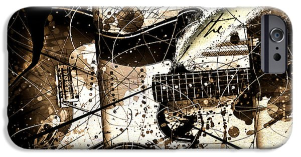 Fender Strat iPhone Cases - Abstracta 32 Strat I iPhone Case by Gary Bodnar