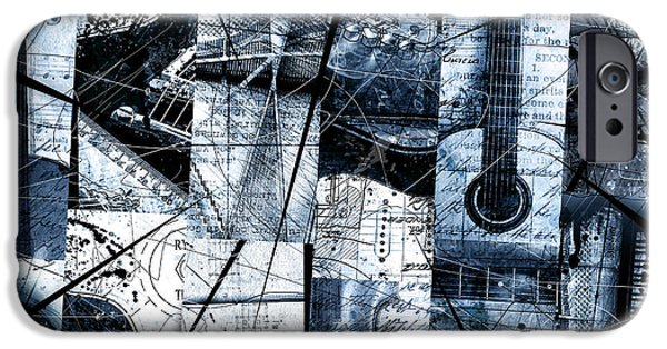 Mosaic iPhone Cases - Abstracta 35 Mosaic In Blue iPhone Case by Gary Bodnar