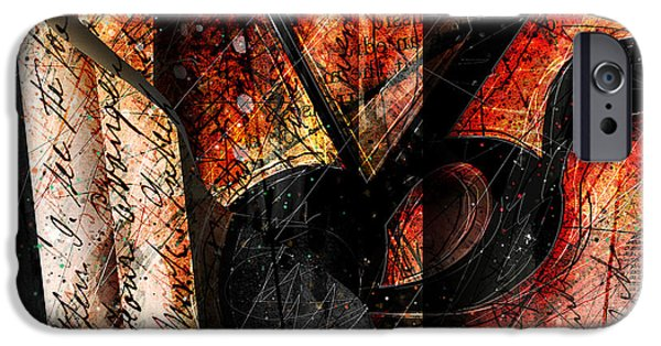 Piano iPhone Cases - Abstracta_02 Symbolz II iPhone Case by Gary Bodnar