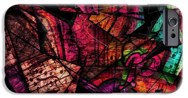 Abstract Digital Digital Art iPhone Cases - Abstracta_11 Cacophony In Z Minor iPhone Case by Gary Bodnar