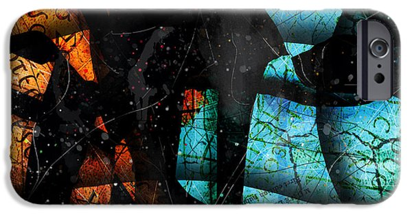 Blue Abstracts iPhone Cases - Abstracta_13 Patmos iPhone Case by Gary Bodnar