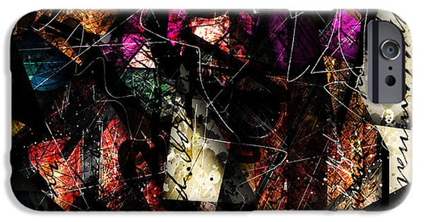 Text Art iPhone Cases - Abstracta_16 Tapestry iPhone Case by Gary Bodnar