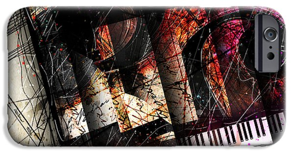 Piano Digital Art iPhone Cases - Abstracta_18 Opus I iPhone Case by Gary Bodnar
