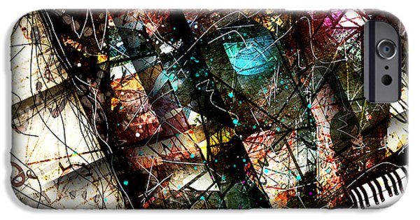 Piano iPhone Cases - Abstracta_19 Concerto II iPhone Case by Gary Bodnar