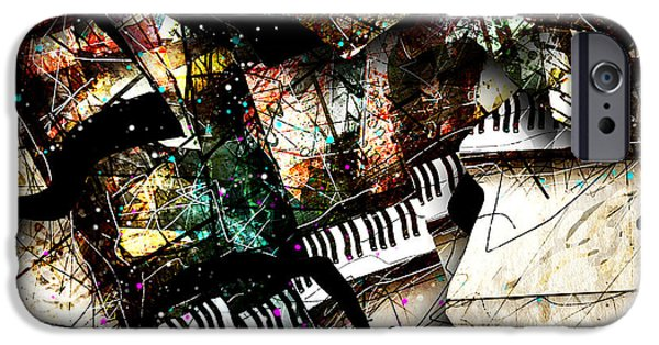 Piano Digital Art iPhone Cases - Abstracta_22 Concerto 3 iPhone Case by Gary Bodnar