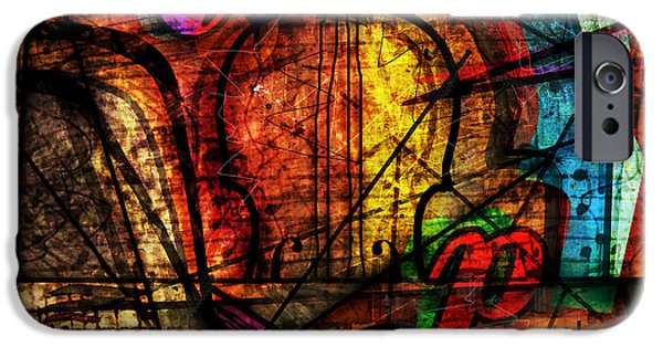 Piano iPhone Cases - Abstracta_08 Symphony iPhone Case by Gary Bodnar