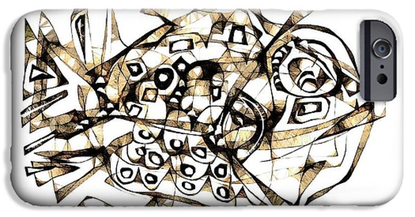 Abstractions iPhone Cases - Abstraction 2242 iPhone Case by Marek Lutek